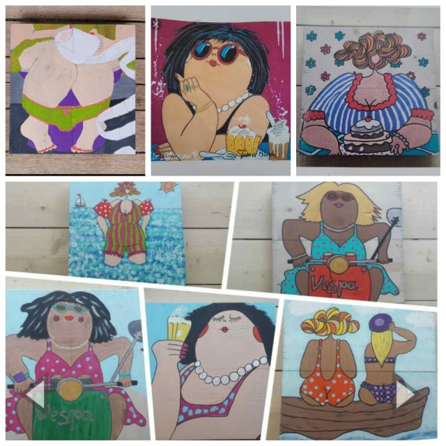 De allerleukste workshops zizi workshops waalwijk brabant for Dikke dames schilderen